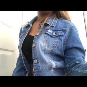 Forever 21 mid length jean jacket